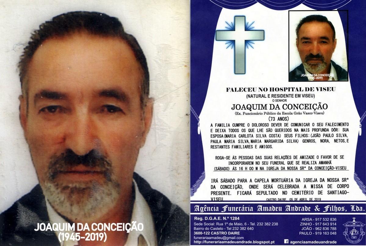 FOTO RIP  DE JOAQUIM DA CONCEIÇÃO-73 ANOS (VISEU