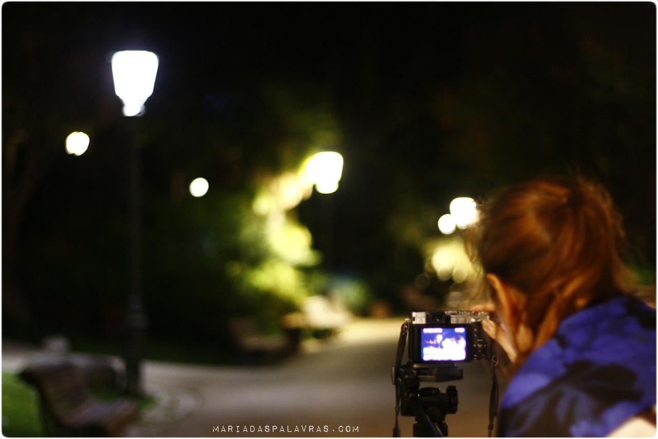 Maria no Workshop de Fotografia Noturna - Experiência Odisseias - Cliquem aqui para saber mais