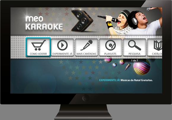 Novo widget MEO Karaoke no MEO Interativo
