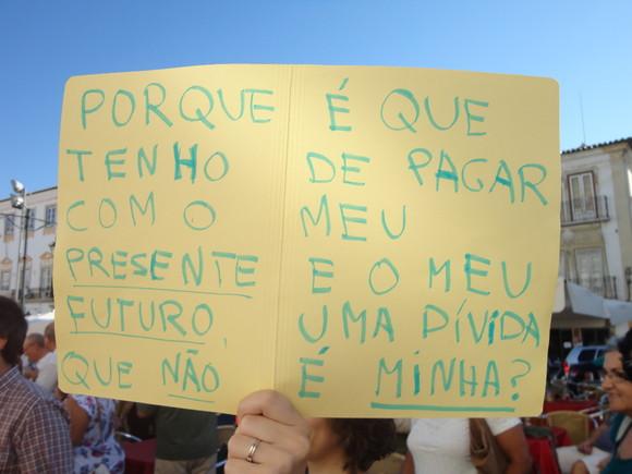 Manif 15/9 A hipoteca em Évora