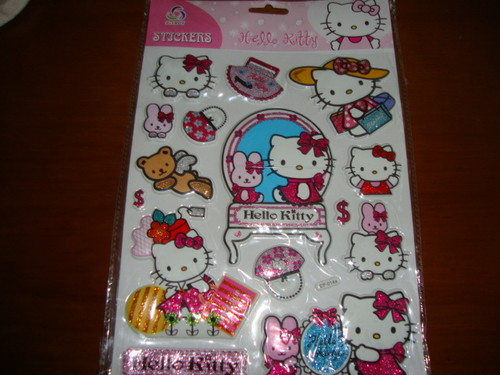 stickers kitty relevo