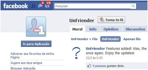 como saber se foi removido do facebook