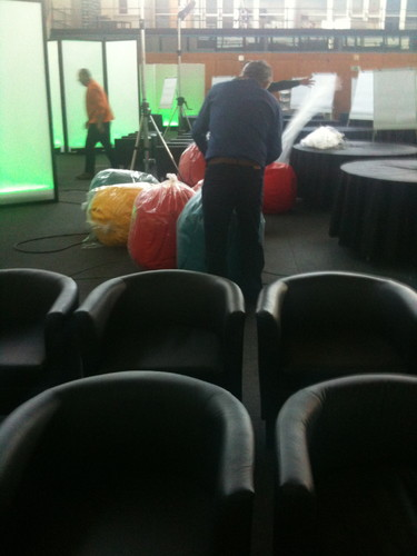 Unpacking bean bags