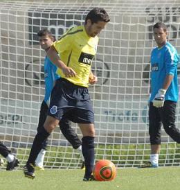 João Moutinho já treinou esta manhã no Olival...