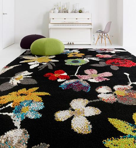 tapetes floridos