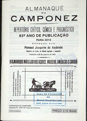"""A edição para 2010 do """"Almanaque do Camponez""""...já meio tarde, mas é quando há tempo!"""