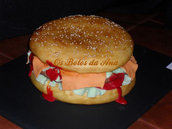 Bolo hamburger Cake