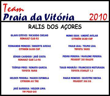 """O """"alinhamento"""" do Team Praia da Vitória para os ralis da nova temporada..."""