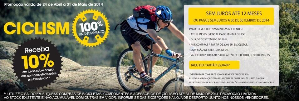 10% de desconto | EL CORTE INGLÉS | Ciclismo de 24 abril a 31 maio