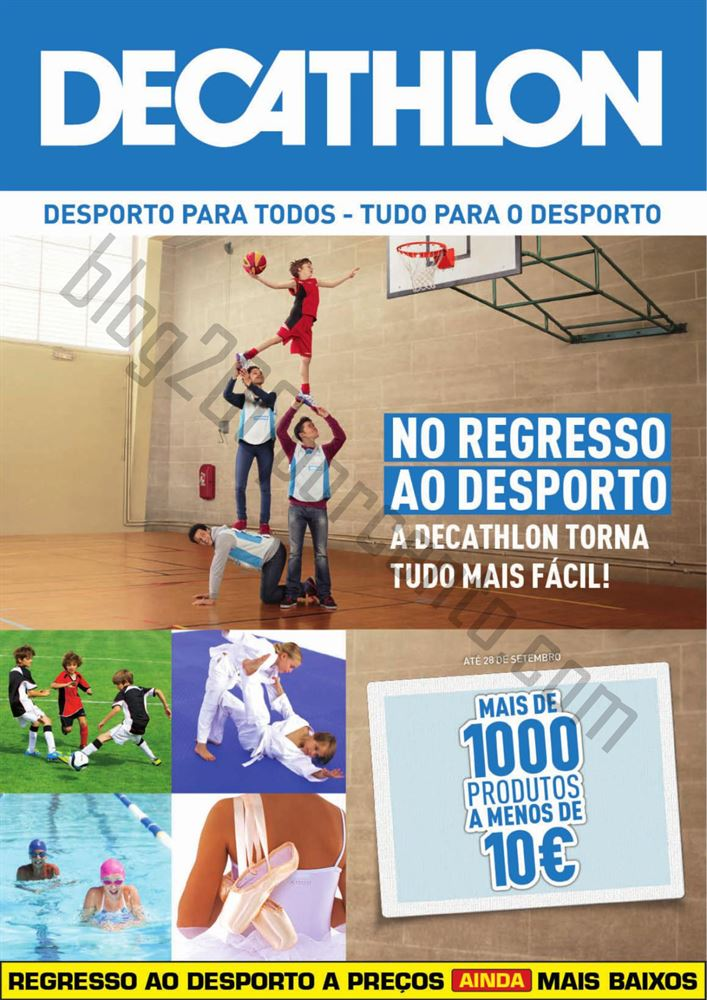 Novo Folheto DECATHLON Promoções até 28 setembro