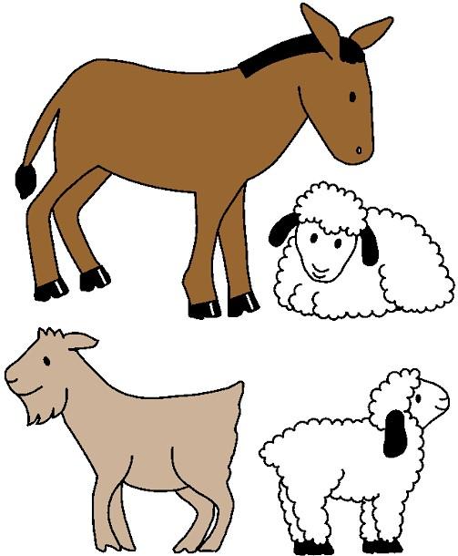 Presepio De Papel Animais Para Imprimir Natal Burro Ovelhas