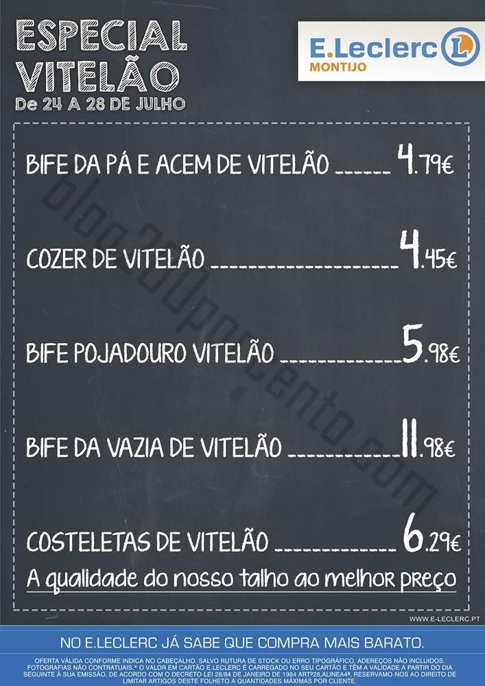 Promoção E-LECLERC Montijo de 24 a 27 julho Vitelão