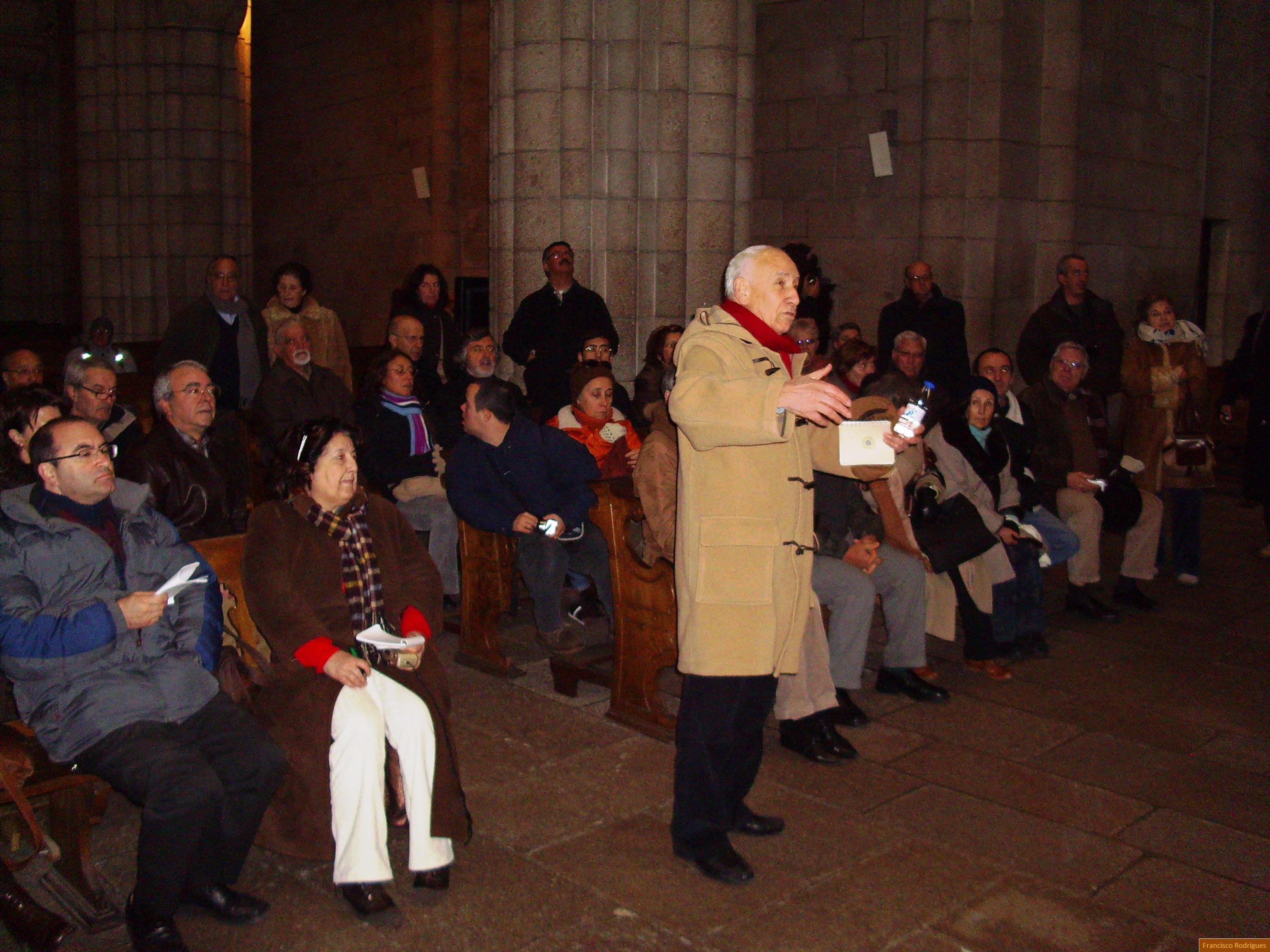 Germano Silva falando do Natal na Sé do Porto em 20 de Dezembro de 2009.