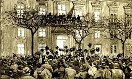 Proclamação da República por Alves da Veiga nos Paços do Concelho